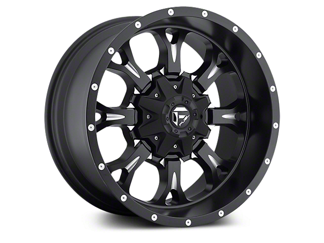 Fuel Wheels Krank Black Milled 5-Lug Wheel - 20x9 (02-18 RAM 1500, Excluding Mega Cab)