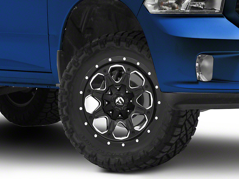Fuel Wheels Boost Black Milled 5-Lug Wheel - 18x9 (02-18 RAM 1500, Excluding Mega Cab)