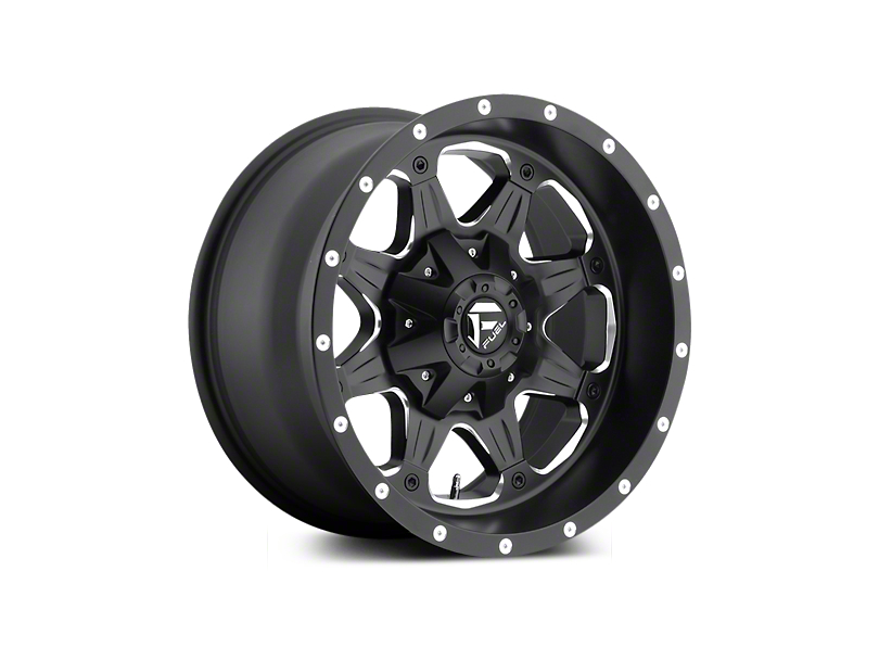 Fuel Wheels Boost Black Milled 5-Lug Wheel - 20x9 (02-18 RAM 1500, Excluding Mega Cab)