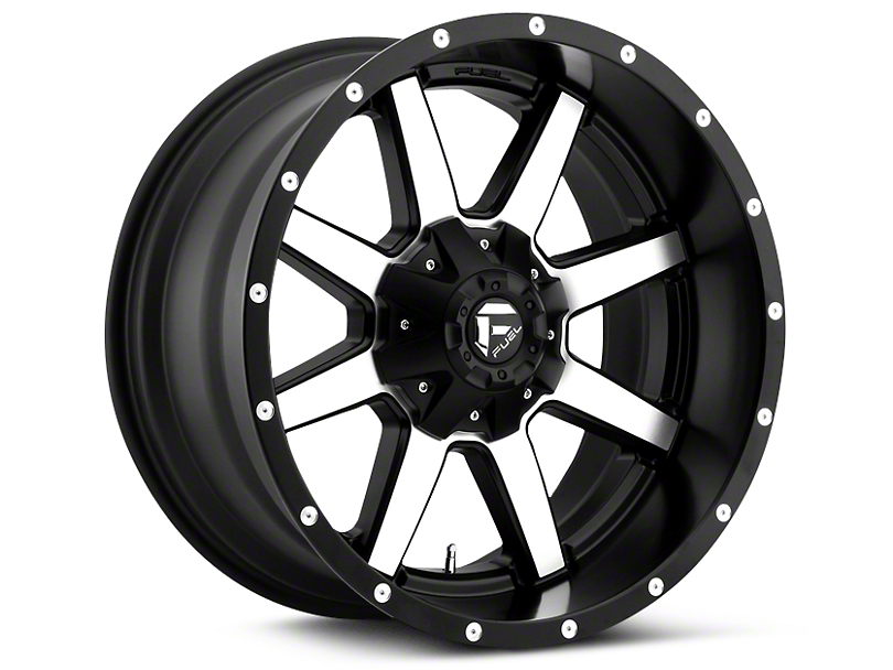 Fuel Wheels Maverick Black Machined 5-Lug Wheel - 20x10 (02-18 RAM 1500, Excluding Mega Cab)