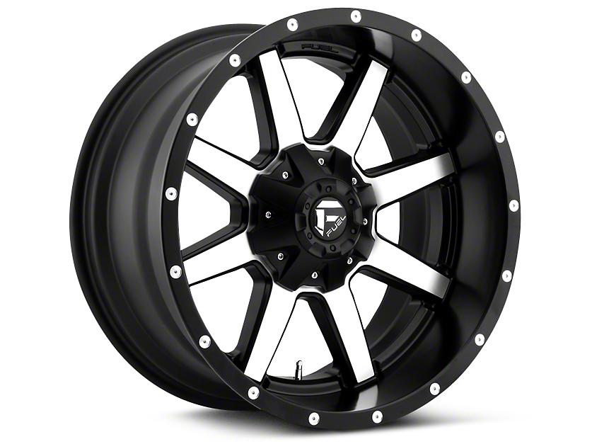 Fuel Wheels Maverick Black Machined 5-Lug Wheel - 20x10 (02-18 RAM 1500, Excluding Mega Cab)