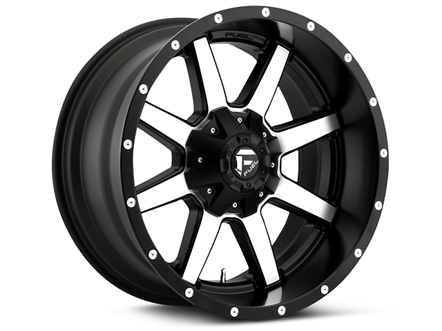 Fuel Wheels Maverick Black Machined 5-Lug Wheel - 20x9 (02-18 RAM 1500, Excluding Mega Cab)