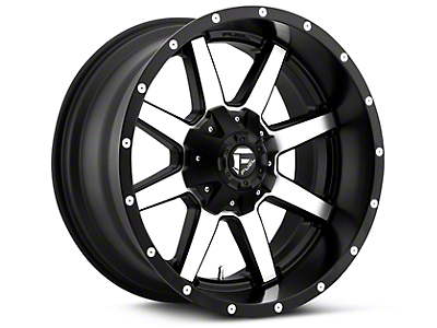 Fuel Wheels Maverick Black Machined 5-Lug Wheel - 20x9 (02-18 RAM 1500, Excluding Mega Cab)