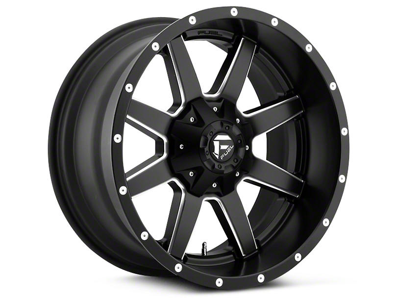 Fuel Wheels Maverick Black Milled 5-Lug Wheel - 20x10 (02-18 RAM 1500, Excluding Mega Cab)