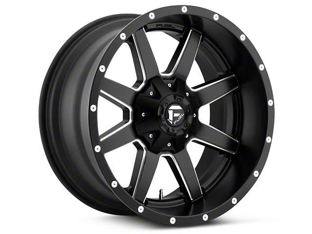 Fuel Wheels Maverick Black Milled 5-Lug Wheel - 20x9 (02-18 RAM 1500, Excluding Mega Cab)