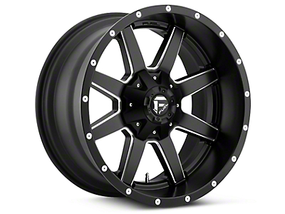 Fuel Wheels Maverick Black Milled 5-Lug Wheel - 20x9 (02-18 RAM 1500, Excluding Mega Cab)