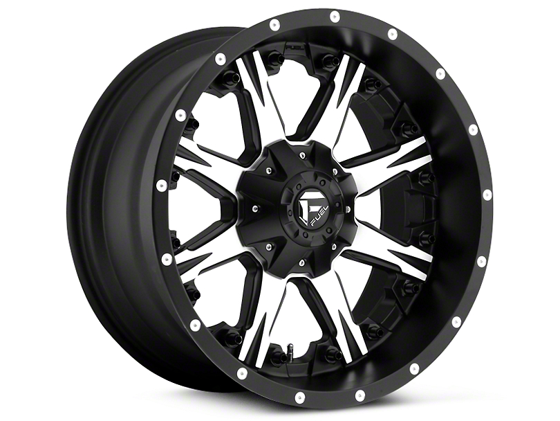 Fuel Wheels NUTZ Black Machined 5-Lug Wheel - 20x10 (02-18 RAM 1500, Excluding Mega Cab)