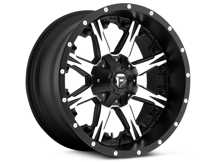 Fuel Wheels Nuts Black Machined 5-Lug Wheel - 20x10 (02-18 RAM 1500, Excluding Mega Cab)