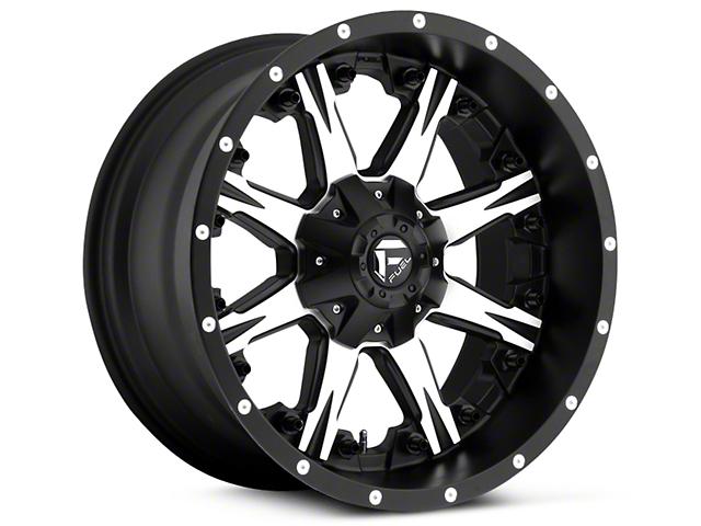 Fuel Wheels Nutz Black Machined 5-Lug Wheel - 20x9 (02-18 RAM 1500, Excluding Mega Cab)