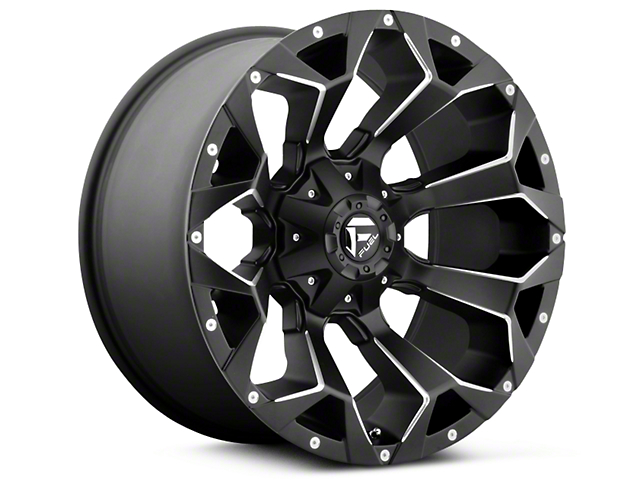 Fuel Wheels Assault Black Milled 5-Lug Wheel - 17x8.5; 25mm Offset (02-18 RAM 1500, Excluding Mega Cab)