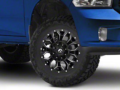 Fuel Wheels Assault Black Milled 5-Lug Wheel - 17x9 (02-18 RAM 1500, Excluding Mega Cab)