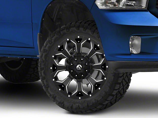 Fuel Wheels Assault Black Milled 5-Lug Wheel - 20x9 (02-18 RAM 1500, Excluding Mega Cab)