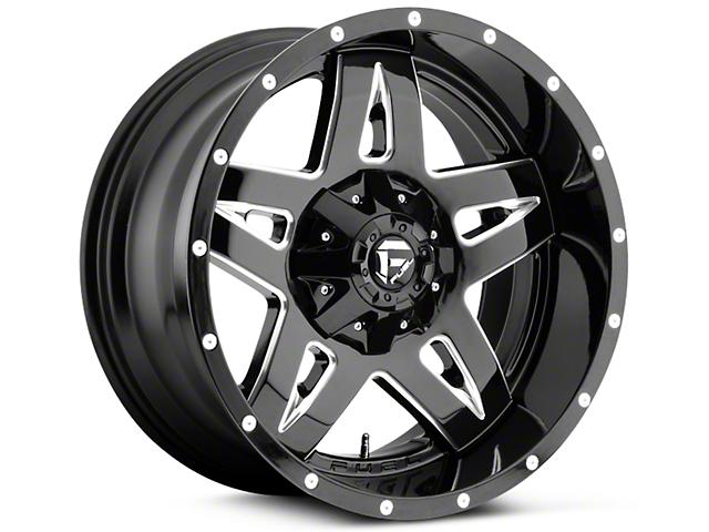 Fuel Wheels Full Blown Black Milled 5-Lug Wheel - 20x9 (02-18 RAM 1500, Excluding Mega Cab)