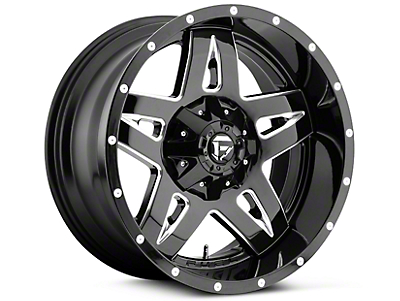 Fuel Wheels Full Blown Black Milled 5-Lug Wheel - 20x9 (02-18 RAM 1500, Excluding Mega Cab)