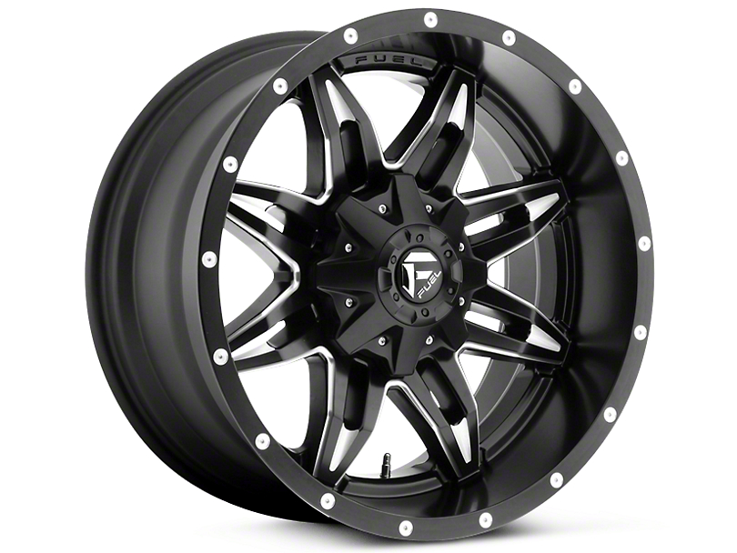 Fuel Wheels Lethal Black Milled 5-Lug Wheel - 20x9 (02-18 RAM 1500, Excluding Mega Cab)