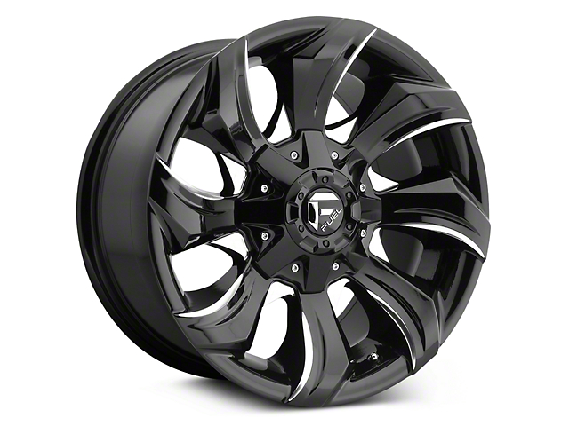 Fuel Wheels Stryker Black Milled 5-Lug Wheel - 20x9 (02-18 RAM 1500, Excluding Mega Cab)