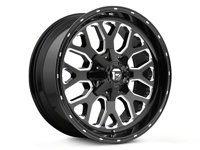 Fuel Wheels Titan Black Milled 5-Lug Wheel - 18x9 (02-18 RAM 1500, Excluding Mega Cab)