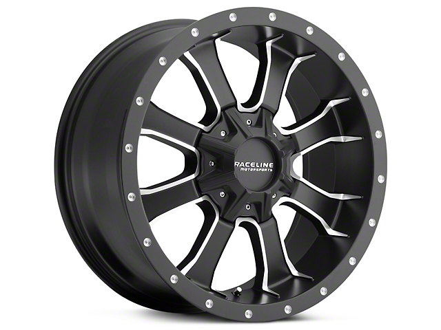 Raceline Mamba Black Milled 5-Lug Wheel - 18x9 (02-18 RAM 1500, Excluding Mega Cab)