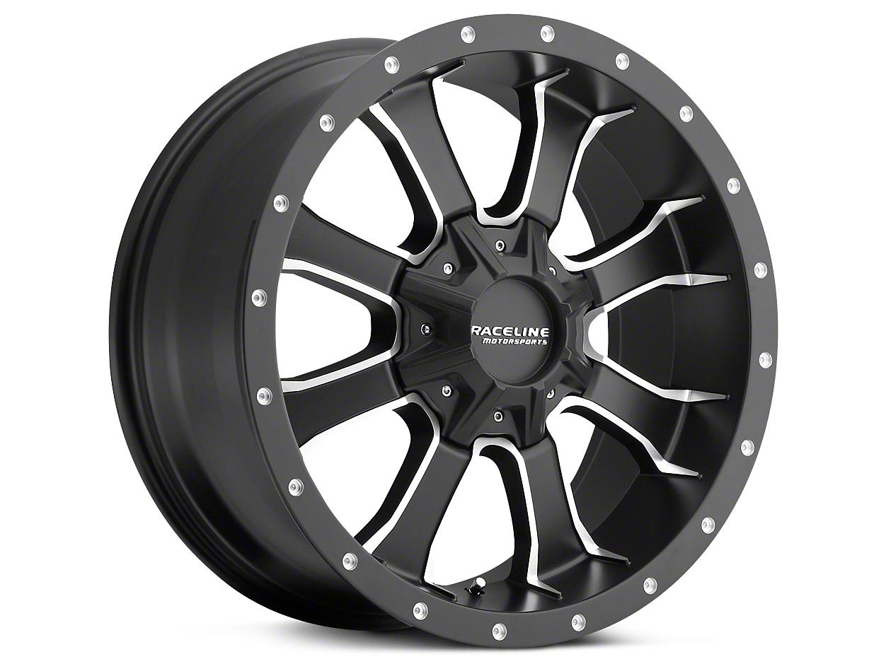 Raceline Mamba Black Milled 5-Lug Wheel - 18x9 (02-18 RAM 1500, Excluding Mega Cab)