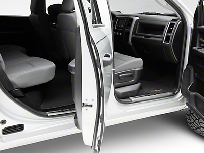 Stainless Steel Door Sill Plate Covers - Polished (09-18 RAM 1500 Quad Cab, Crew Cab)