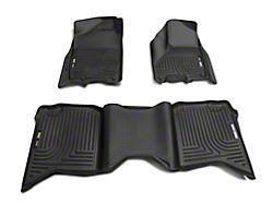 Husky WeatherBeater Front & 2nd Seat Floor Liners - Black (09-18 Crew Cab)