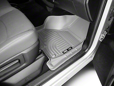 Husky WeatherBeater Front & 2nd Seat Floor Liners - Gray (09-18 RAM 1500 Quad Cab, Crew Cab)