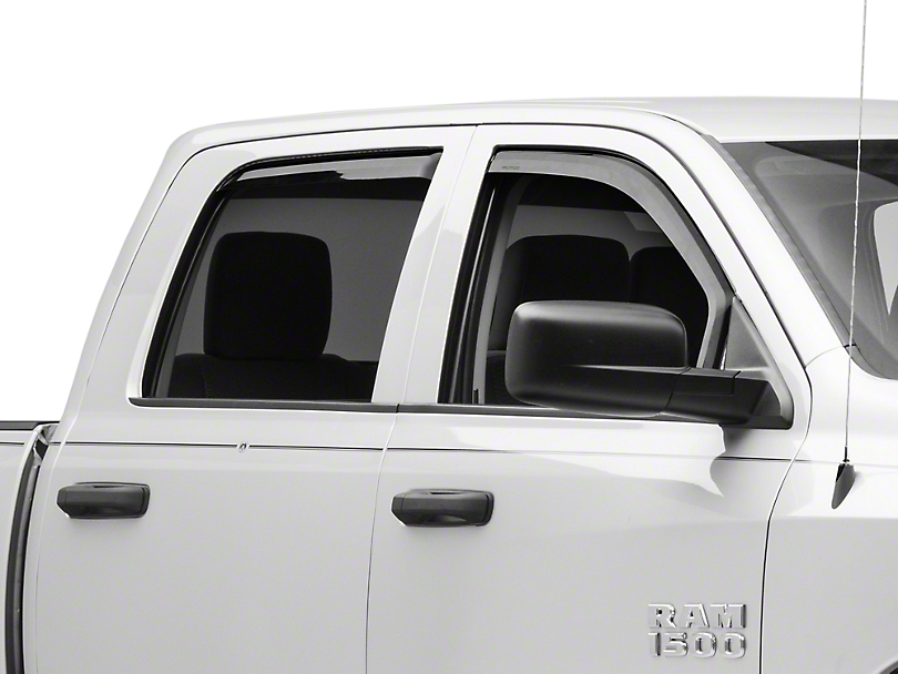 Putco Element Tinted Window Visors - Channel Mount - Front & Rear (09-18 RAM 1500 Quad Cab, Crew Cab, Excluding Rebel)