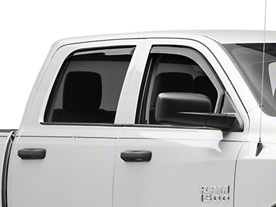 Putco Tinted Element Window Visors - Channel Mount - Front & Rear (09-18 RAM 1500 Quad Cab, Crew Cab, Excluding Rebel)