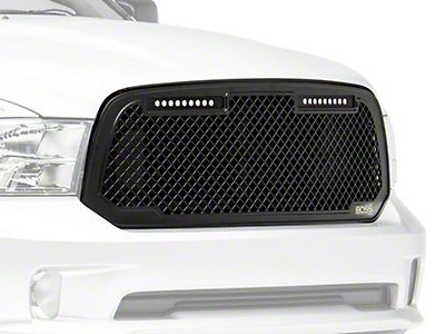 Putco Boss Mesh Upper Replacement Grille - Black (13-18 RAM 1500, Excluding Rebel)