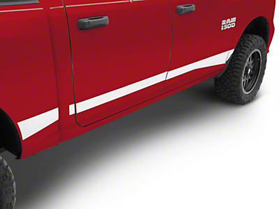 Stainless Steel Rocker Panels (09-18 RAM 1500 w/o Fender Flares, Excluding Crew Cab w/ 6.4 ft. Box)
