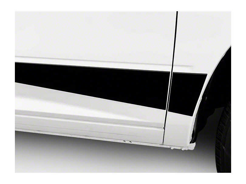 Putco Black Platinum Rocker Panels (09-18 RAM 1500 w/o Fender Flares, Excluding Crew Cab w/ 6.4 ft. Box)
