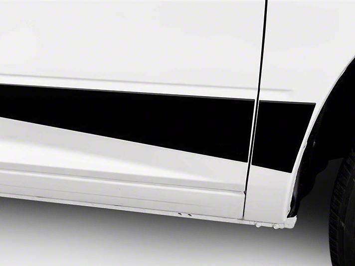 Putco Black Platinum Rocker Panels (09-18 RAM 1500 w/o Fender Flares, Excluding Crew Cab w/ 6.4 ft. Box)