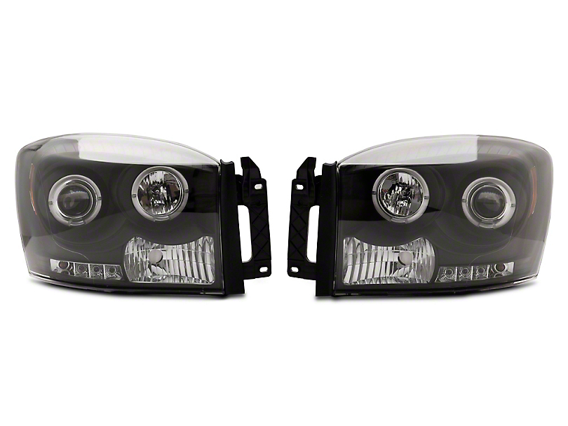 Axial Black Halo Projector Headlights (06-08 RAM 1500)