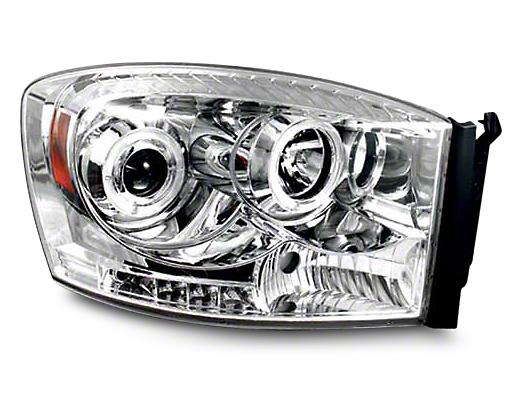 Axial Chrome Halo Projector Headlights (06-08 RAM 1500)