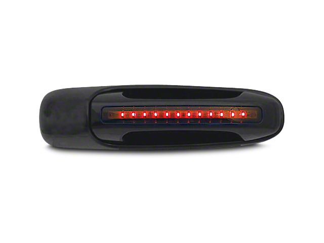 Axial Rear Black Door Handles w/ Red LED & Smoked Lens (02-06 RAM 1500 Quad Cab; 2006 RAM 1500 Mega Cab)