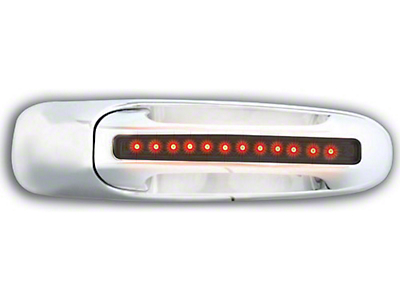 Axial Rear Chrome Door Handles w/ Red LED & Smoked Lens (02-06 RAM 1500 Quad Cab; 2006 RAM 1500 Mega Cab)