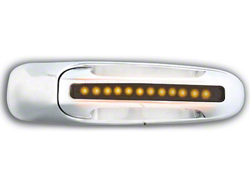 Alteon Rear Chrome Door Handles w/ Amber LED & Smoked Lens (02-06 RAM 1500 Quad Cab; 2006 RAM 1500 Mega Cab)