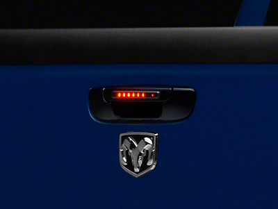 Alteon Black Tailgate Handle w/ Red LED & Smoked Lens (02-08 RAM 1500)