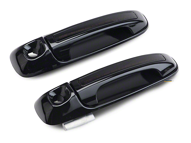 Axial Front Black Door Handles w/ Amber LED & Smoked Lens (02-06 RAM 1500)