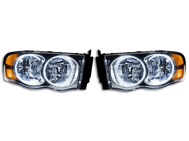 Oracle Chrome OE Style Headlights w/ Plasma LED Halos (02-05 RAM 1500)