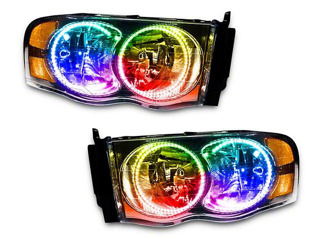 Oracle Chrome OE Style Headlights w/ ColorSHIFT SMD LED Halos (02-05 RAM 1500)