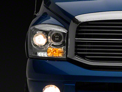 Axial Chrome Projector Headlights w/ LED Halos (06-08 RAM 1500)