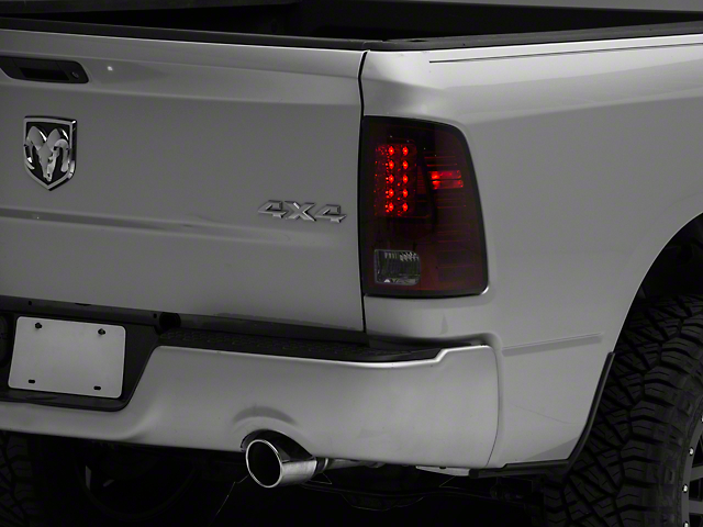 LED Tail Lights; Red Smoked (09-18 RAM 1500)