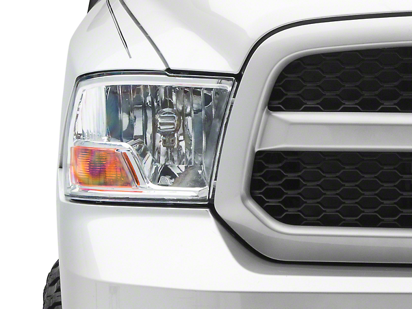 Axial Chrome Euro Headlights (09-18 RAM 1500 w/ Dual Headlamps & w/o Projector Headlights)