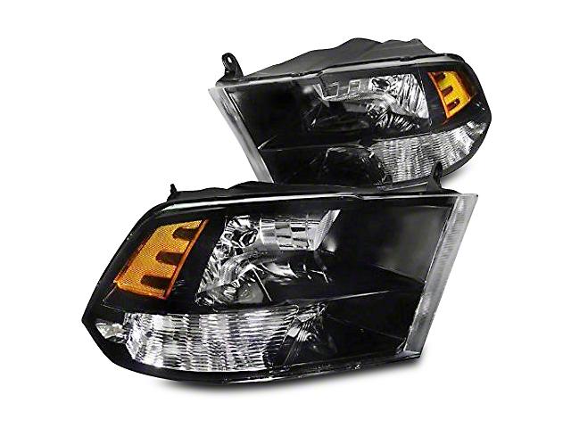 Axial Black Euro Headlights (09-18 RAM 1500 w/o Projector Headlights)