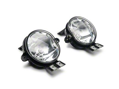 Axial Clear OEM Style Fog Lights w/ Wiring Harness - Pair (02-08 RAM on