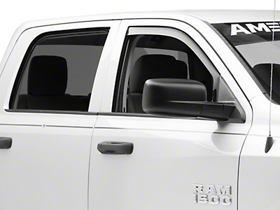 Weathertech Front Side Window Deflectors - Dark Smoke (09-18 RAM 1500)