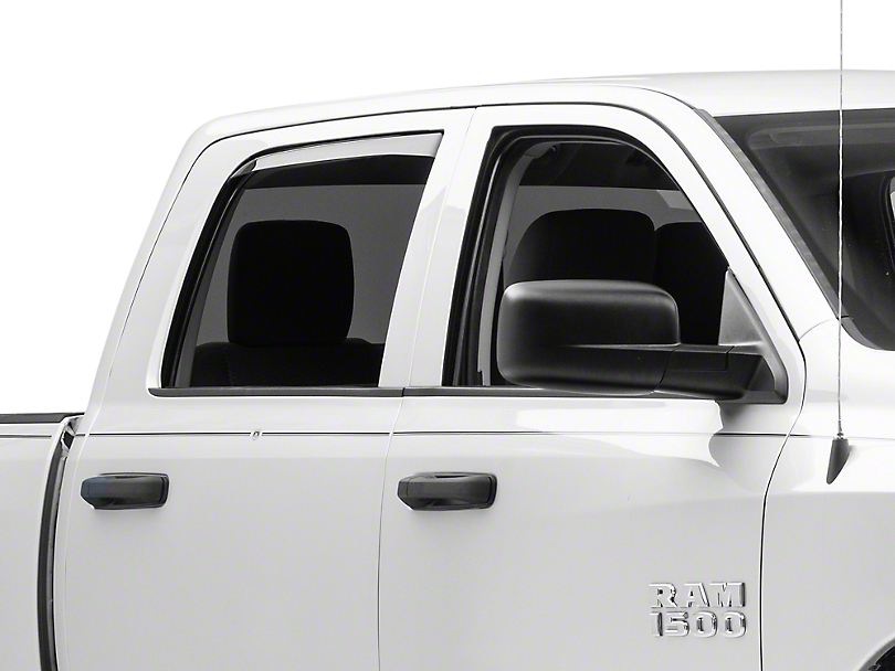 Weathertech Rear Side Window Deflectors - Light Smoke (09-18 RAM 1500 Quad Cab, Crew Cab)