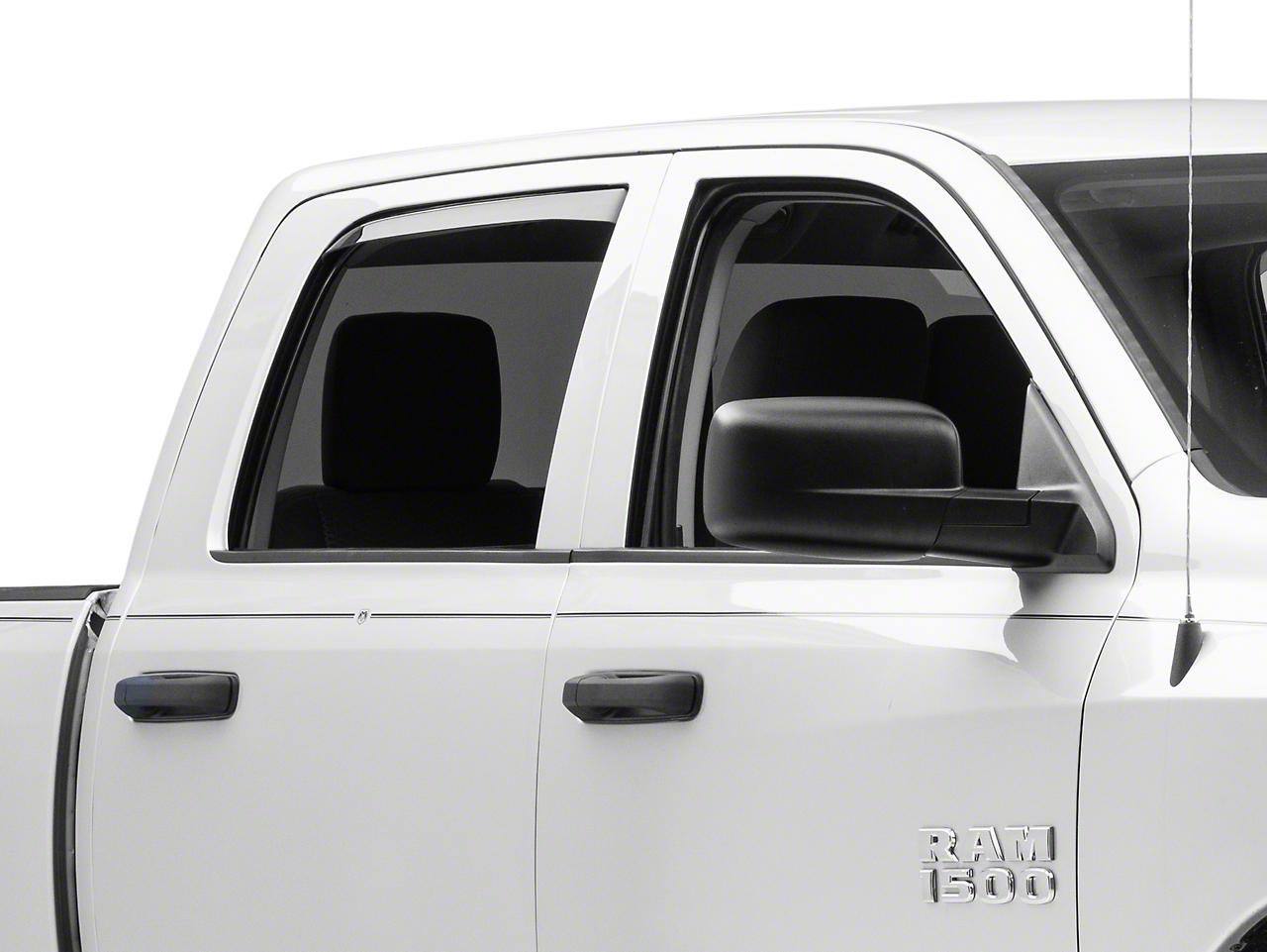Weathertech Rear Side Window Deflectors - Light Smoke (09-18 RAM 1500 Quad Cab, Crew Cab)