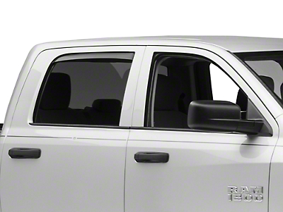 Weathertech Rear Side Window Deflectors - Dark Smoke (09-18 RAM 1500 Quad Cab, Crew Cab)